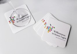 602 - Weinfilze  / Wine Coasters Neutral VPE 100 Stück