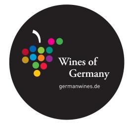 626 - Ablösbarer Aufkleber / removeable Sticker WINES OF GERMANY